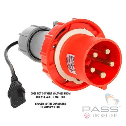 230V IEC PAT Testing Adaptor 63A 415V Plug 5 Pin Delta