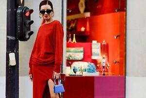 Jacquemus NEW La Robe Jemaa High Slit Dress 38 Elastic Waist Cashmere Wool Knit