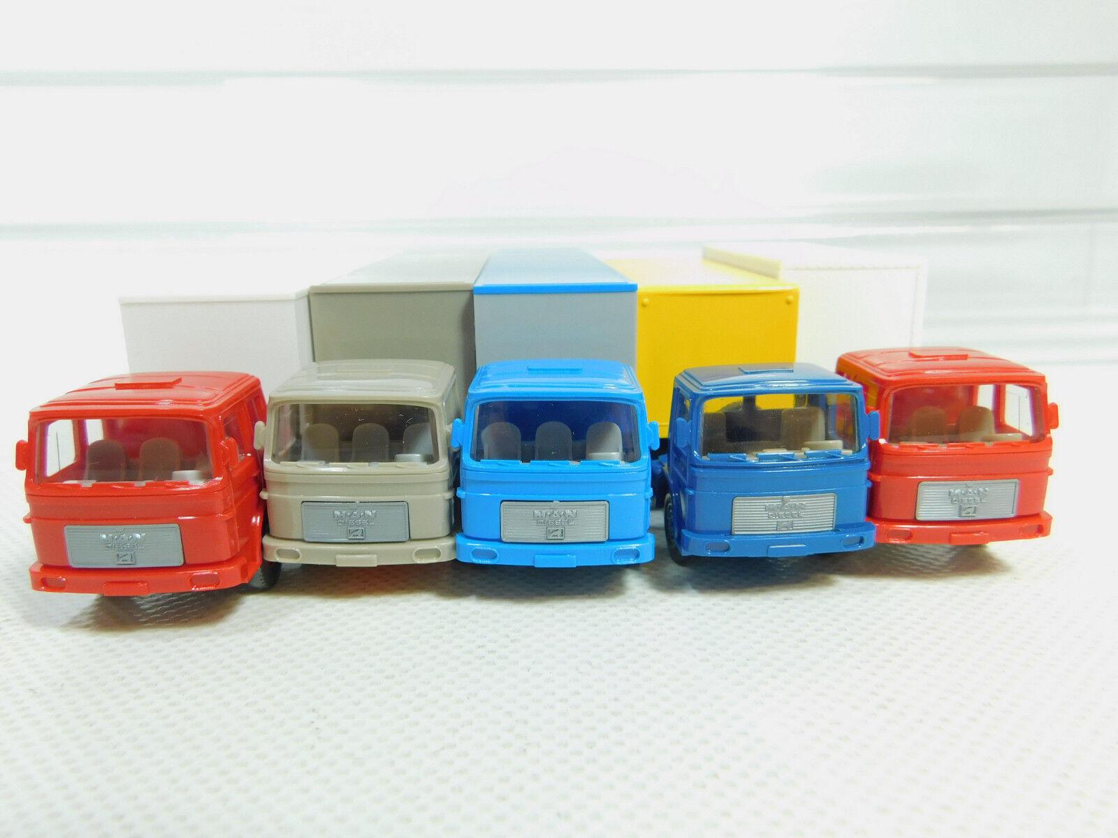 Bo700-0, 5 x Wiking H0   1 87 Lorry Lorry Lorry Man  Regent + Dal+ Verpoorten etc. , f5b4ae