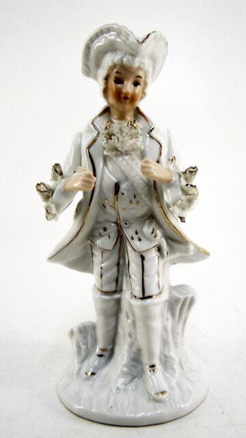 Porzellanfigur Rokoko Figurengruppe Edelmann Höhe ca. 29 cm