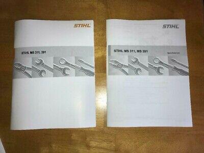 Ms 311 391 Ms311 Ms391 Stihl Service Workshop Repair Parts List Diagram Manual Ebay