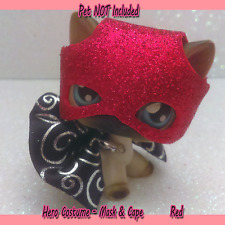 Littlest Pet Shop Clothes Accessories LPS Outfit Red HERO Outfit (NO PET) #63