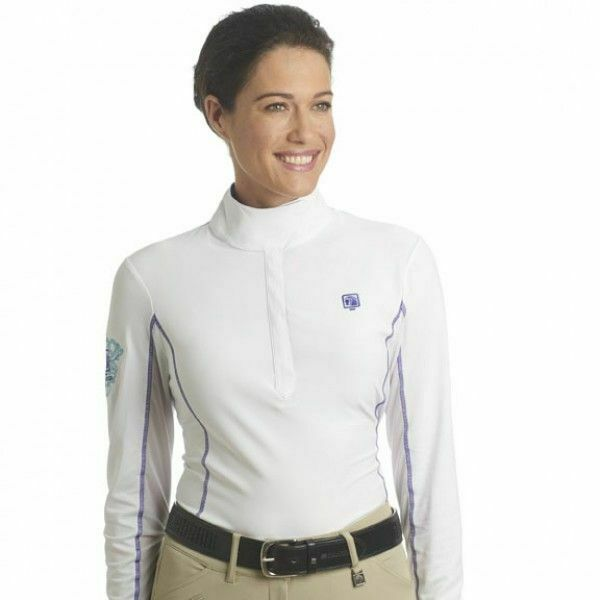 Romfh Ladies Signature Competitor Long Sleeve Show Shirt With Embroidery