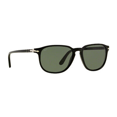 Crystal Green Lens Authentic Persol PO 3019//S 95//31 Black 55mm
