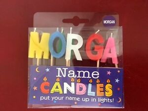 Image Is Loading Alphabet MORGAN Name Birthday Candles Personalized Put Their