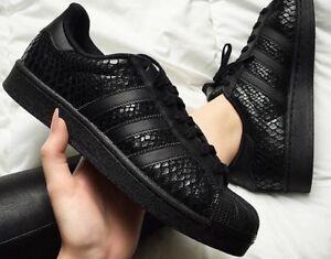 adidas superstar black for women