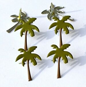 PALM TREE BRADS Beach Vacation Tropical Scrapbooking Card Making Stamping