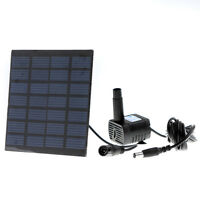 Solar Power Panel Garden Fountain Pond Pool Water Pump Garden Plants Watering on sale