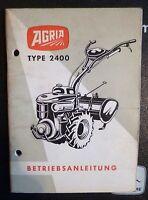 Agria Einachser 2400 Betriebsanleitung