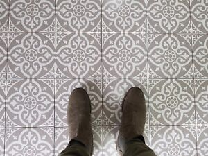 CUT TILE SAMPLES: Twyford Grey Vintage Victorian Moroccan Wall ...