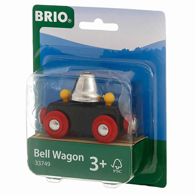 BRIO 33749 Bell Wagon for Wooden Train Set
