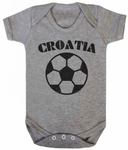 CROATIA Boys Girls Football Unisex BABYGROW Vest World Cup 2018 Basic Retro
