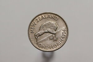 NEW-ZEALAND-FLORIN-1934-NICE-SHARP-DETAILS-B15-SZ2906