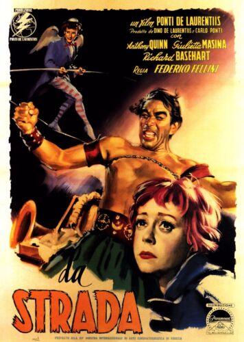 La strada 1954 Retro Movie Poster A0-A1-A2-A3-A4-A5-A6-MAXI 267