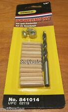 GENERAL Tools 841014 - 1/4-Inch Wood Doweling Kit - Dowels, Bit, Stop & Centers