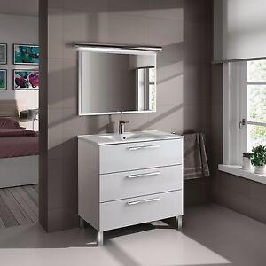 Mueble-de-bano-con-espejo-con-marco-a-juego-y-lavamanos-blanco-80x86x45cm