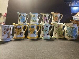 LOT-of-10-Cash-Family-Hand-Painted-Pottery-Vase-Pitcher-Beautiful-Vintage