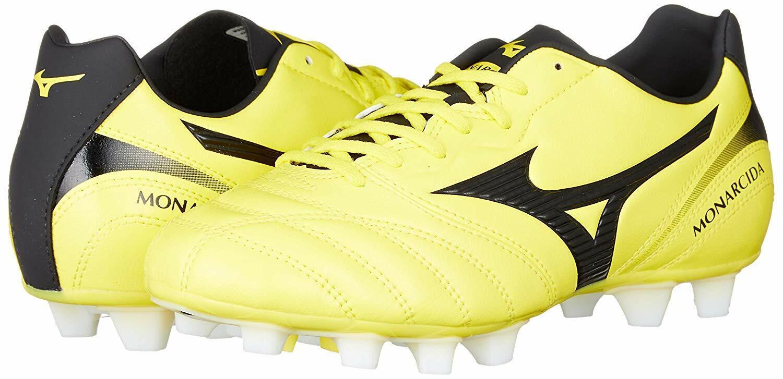 Mizuno monarcida II súper amplia único tejido MD fútbol Spike Zapatos 4E blancoo O Amarillo yfii