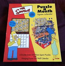 The Simpsons Puzzle A Month 6X Double Sided 200 Piece Jigsaw Puzzle Calendar