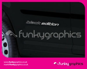 VW-CADDY-TRANSPORTER-BLACK-EDITION-STICKERS-DECALS-GRAPHICS-2x-LARGE-1x-SMALL