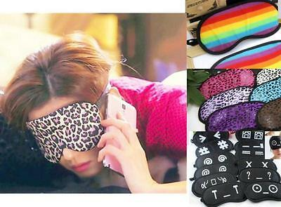 Rainbow Leopard Emoticon Soft Travel Sleeping Aid Shade Cover Mask Blindfold BUC