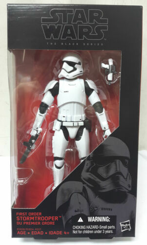 "HASBRO STAR WARS BLACK SERIES 6/"" FIRST ORDER STORMTROOPER ACTION FIGURE"
