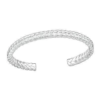 Tjs 925 Sterling Silver Toe Ring Simple Braid Design Adjustable