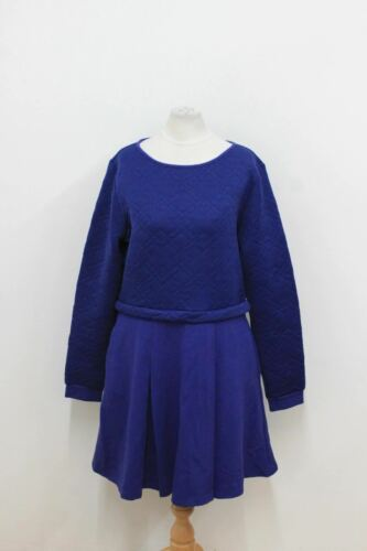 Reiss Dress Neckline Crew Sleeved Blue Ladies Uk14 Skater Long Bnwt Navy pW0wdqpz