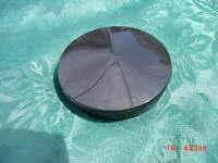 Boat Steering Wheel Center Cap Marine Black 2 5/8 - 2-1/2 Id Plastic Center