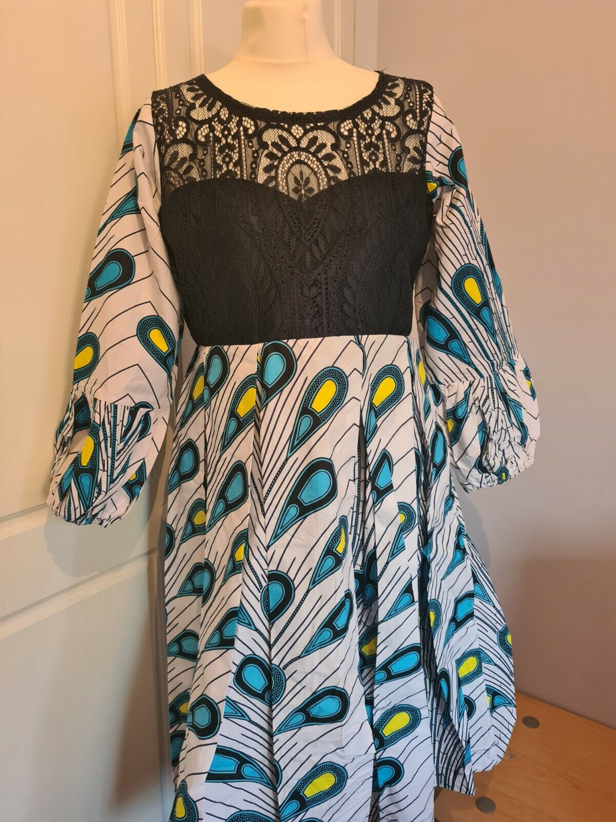 Modern Ankara mix dress. Fits Size 12 to 14
