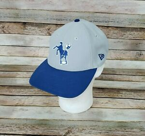 NFL-Indianapolis-Colts-Hat-Cap-Embroidered-Adjustable-Gray-Blue-New-Era