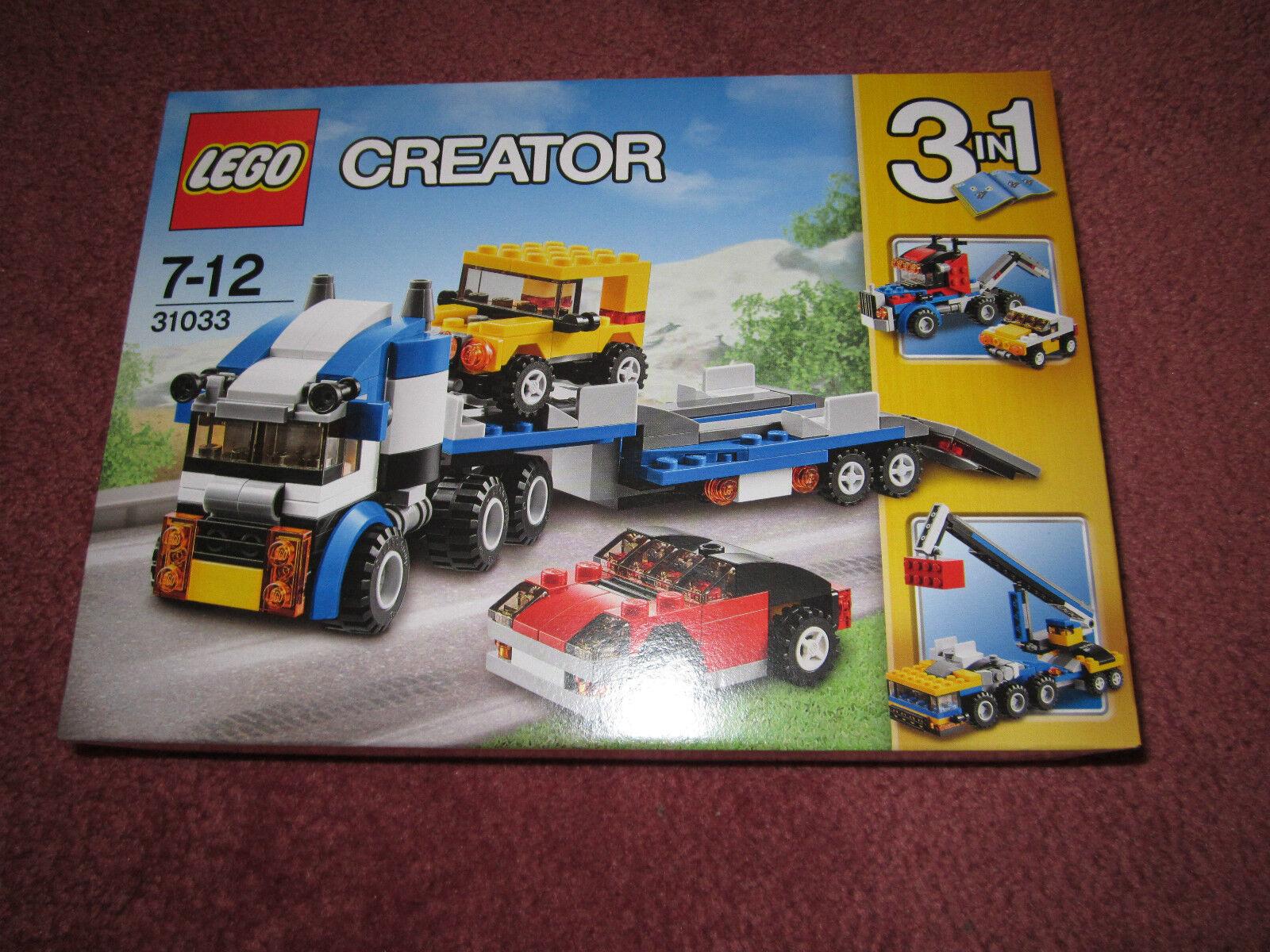 LEGO CREATOR 3 en 1 véhicule Transporteur 31033-Nouveau coffret Scellé