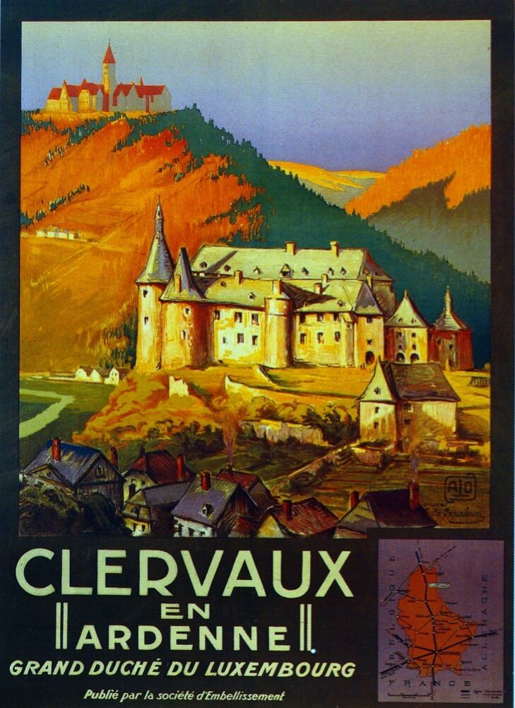3044.Clervaux En Ardenne France Travel POSTER.French Art Office room decor