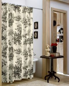 Lavish Black Ivory Clic Toile Shower