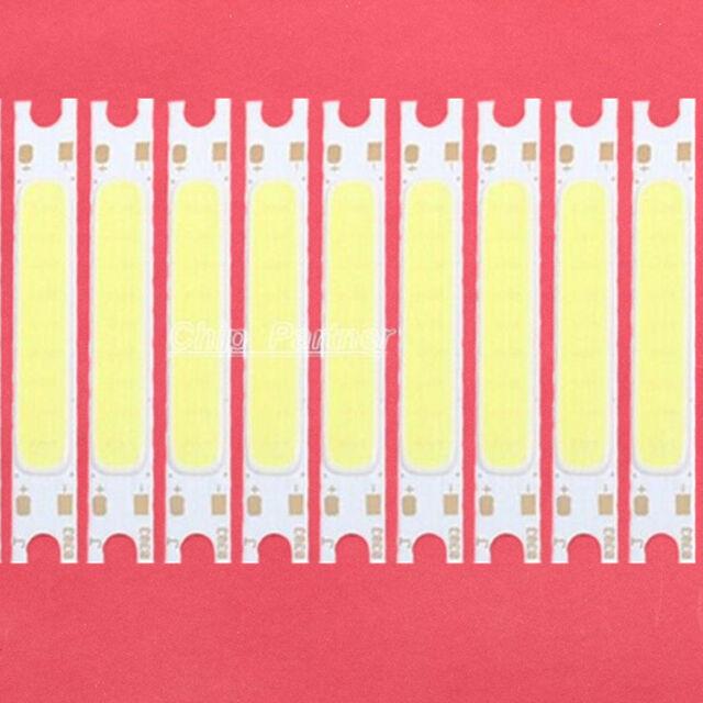 10pcs 3W White COB High Power LED Stripe Light lamp 9-11V Emitting Diode Chip
