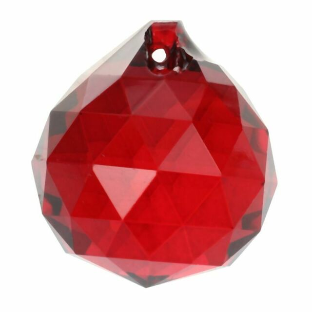 30mm Red Crystal Ball Prisms P2R1