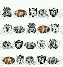 NFL Oakland Raiders nail art WATER DECALS  Free shipping Footbal nail art