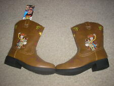 NWT Box Lighted Footwear Disney Pixar Toy Story Woody Light Up Boots Toddler 11