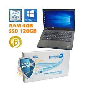 """PC Portable Lenovo T440 I5 14 """" 4GB 120GB Windows 10"""