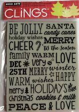 "Hero Arts Clings ""Be Jolly"" Christmas  Rubber Stamp 5.75""x 4.5"" *New*"
