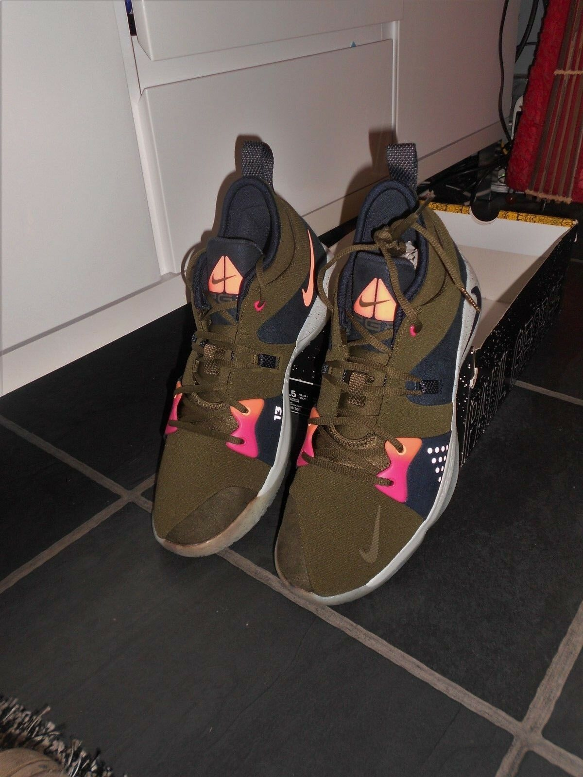BRAND NEW WITH PART BOX - NIKE PG2 ACG BASKETBALL TRAINERS - UK SIZE 12.5