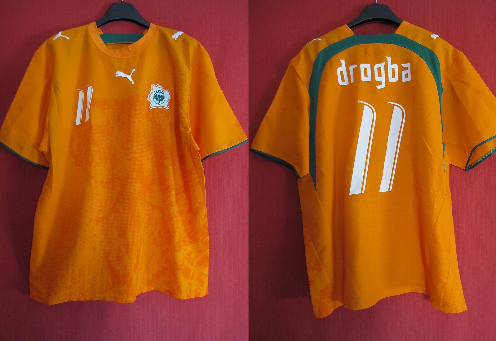 Maillot Cote d'ivoire rétro Drogba n°11 Vintage Football FIF - XL