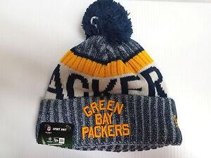 8e00f76a69a Green Bay ACME Packers New Era Knit Hat On Field 2017 Sideline ...