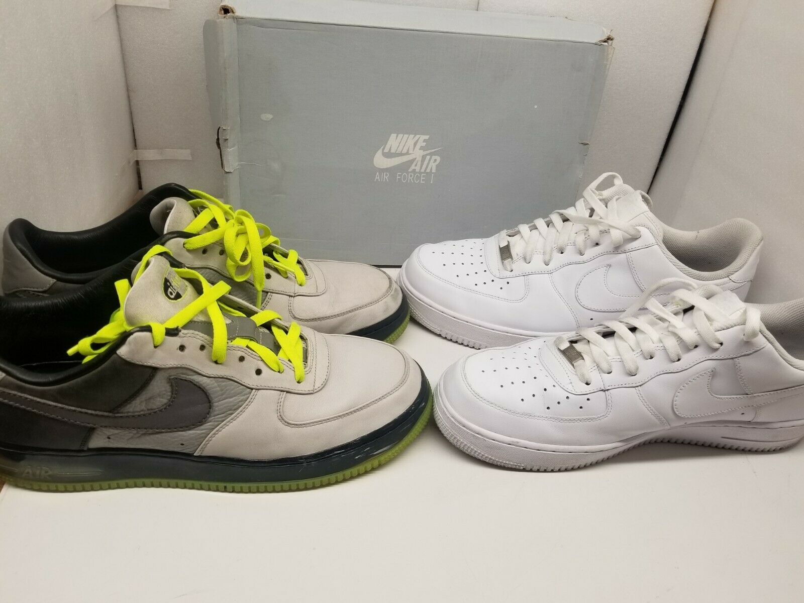 2 NIKE AIR FORCE 1 SHOES MEN SIZE 13.