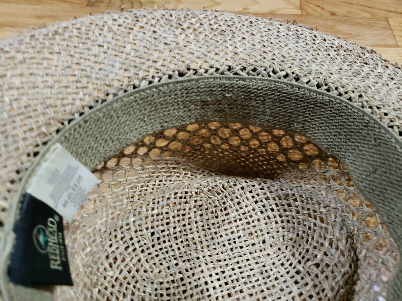 Authentic RedHead Straw Hat Cap 100% Straw One Si… - image 8