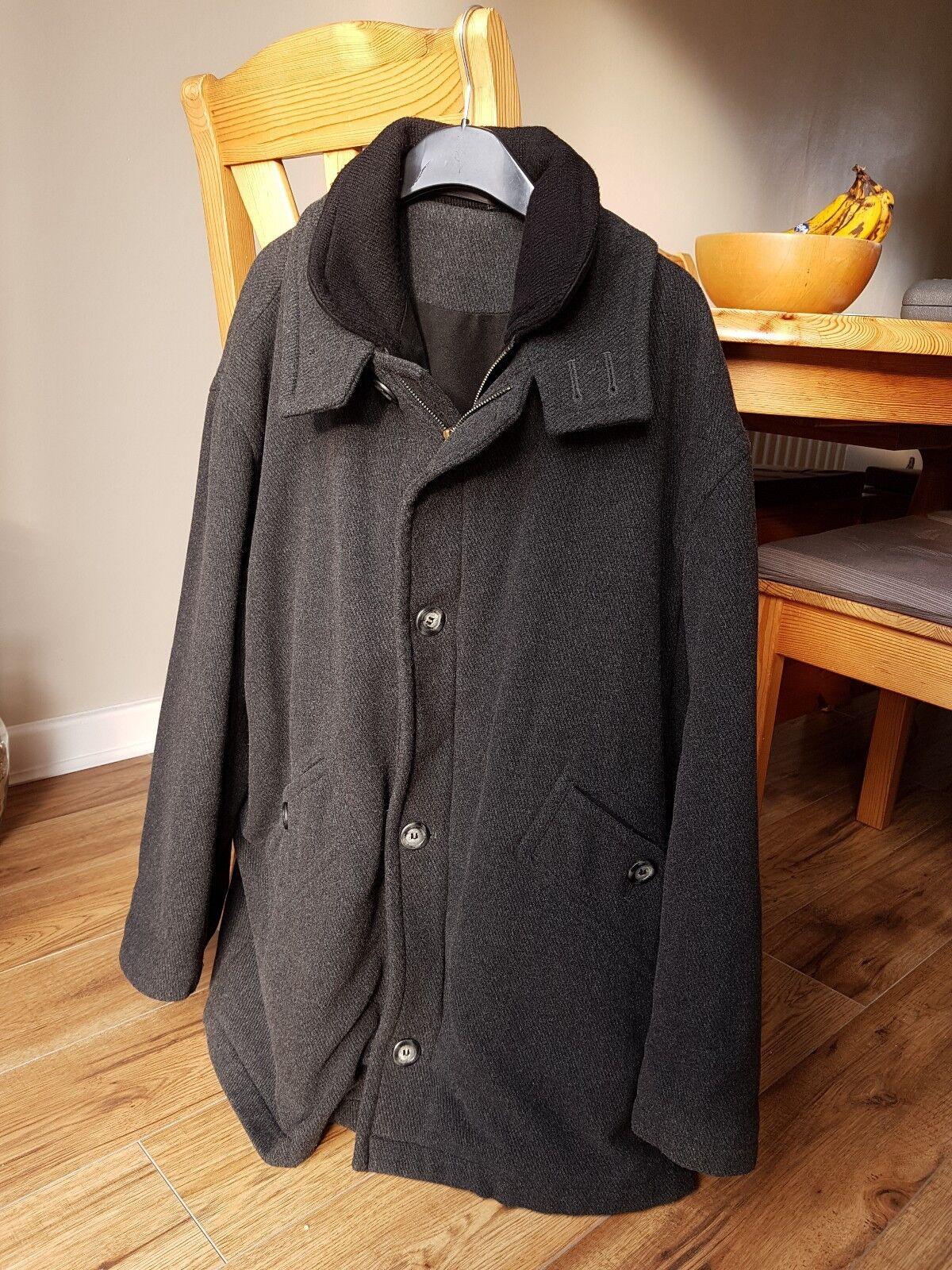 Baker Street by Carlo Bellucci Men's Winter Fleece Lined Wool Coat. Size L