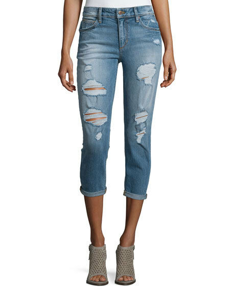 NWT Joe`s The Billie Crop Distressed Boyfriend Jeans