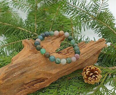 Bracelet Agate Indienne Minéral Bijoux en Pierre Naturelle Lithothérapie