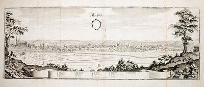 Clever C1650 Rochlitz In Sachsen. Kupferstich- Gesamtansicht Von Merian Mit Traditionellen Methoden