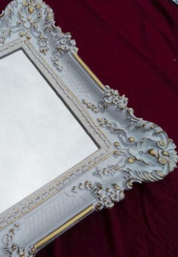 WANDSPIEGEL RENAISSANCE Gold Silber 96x57 ANTIK BAROCK SHABBY FLURSPIEGEL Repro